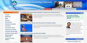 Situs web Kemdiknas