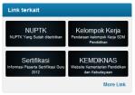 Link NUPTK